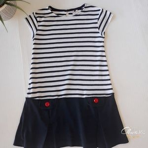 Gymboree Stripes Drop Waist Dress Size 6